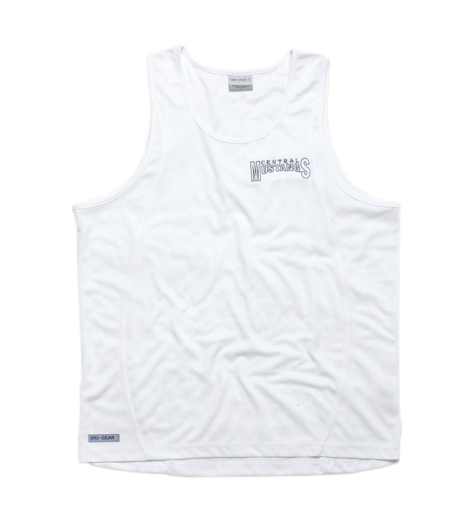Gear For Life-Gear For Life Dri Gear Mens Plain Singlet-White / S-Corporate Apparel Online - 4