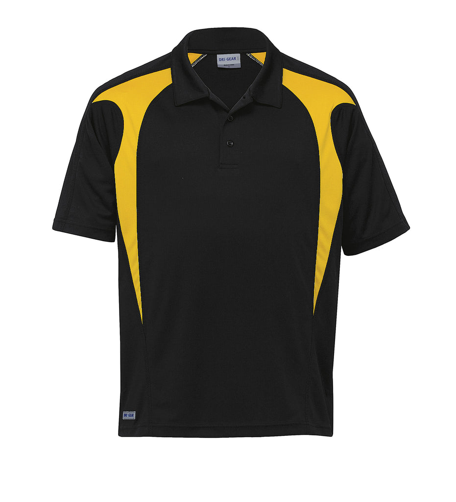 Gear For Life-Gear For Life  Dri Gear Spliced Zenith Polo(1st 8 Colours)-Black/Gold / 2XS-Corporate Apparel Online - 4
