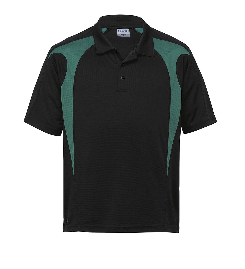 Gear For Life-Gear For Life  Dri Gear Spliced Zenith Polo(1st 8 Colours)-Black/Green / 2XS-Corporate Apparel Online - 3