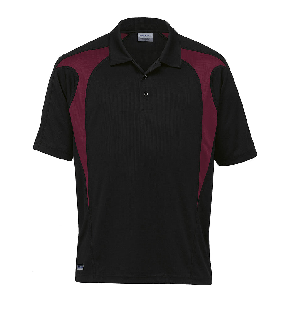Gear For Life-Gear For Life  Dri Gear Spliced Zenith Polo(1st 8 Colours)-Black/Maroon / 2XS-Corporate Apparel Online - 5