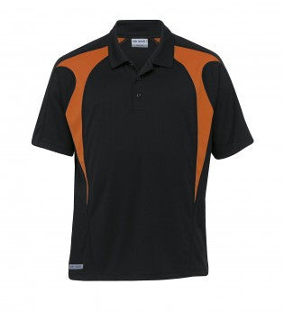 Gear For Life-Gear For Life Gear Spliced Zenith Impact Polo-black/pumpkin / WXS-Corporate Apparel Online - 3