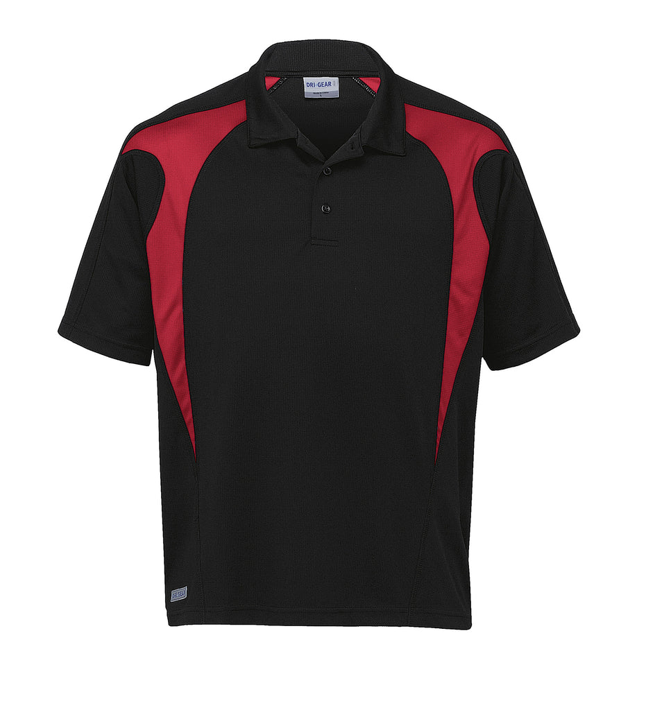 Gear For Life-Gear For Life  Dri Gear Spliced Zenith Polo(1st 8 Colours)-Black/Royal / 3XL-Corporate Apparel Online - 6