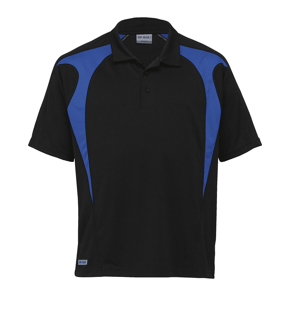 Gear For Life-Gear For Life  Dri Gear Spliced Zenith Polo(1st 8 Colours)-Black/Royal / 2XS-Corporate Apparel Online - 7
