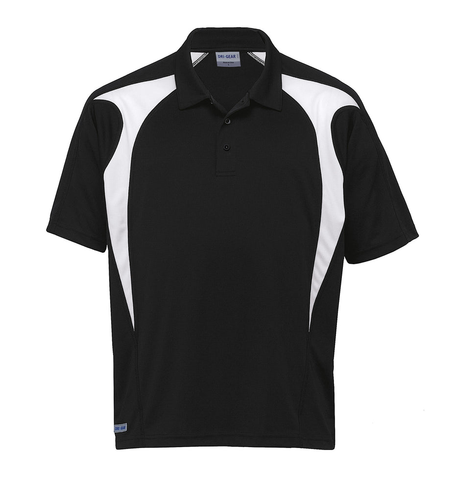 Gear For Life-Gear For Life  Dri Gear Spliced Zenith Polo(1st 8 Colours)-Black/White / 2XS-Corporate Apparel Online - 8