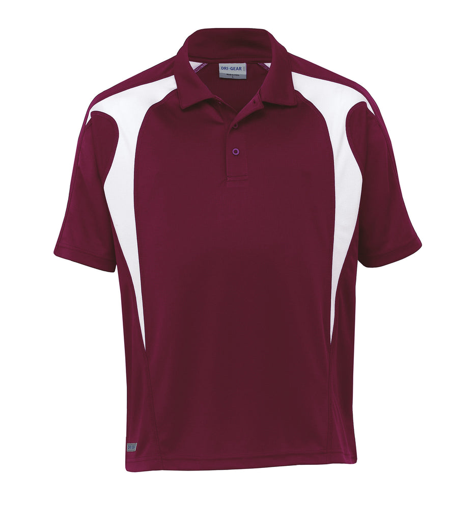 Gear For Life-Gear For Life  Dri Gear Spliced Zenith Polo(1st 8 Colours)-Maroon/White / 2XS-Corporate Apparel Online - 9