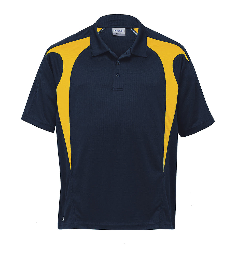 Gear For Life-Gear For Life  Dri Gear Spliced Zenith Polo (2nd 8 Colours)-Navy/Gold / 2XS-Corporate Apparel Online - 2