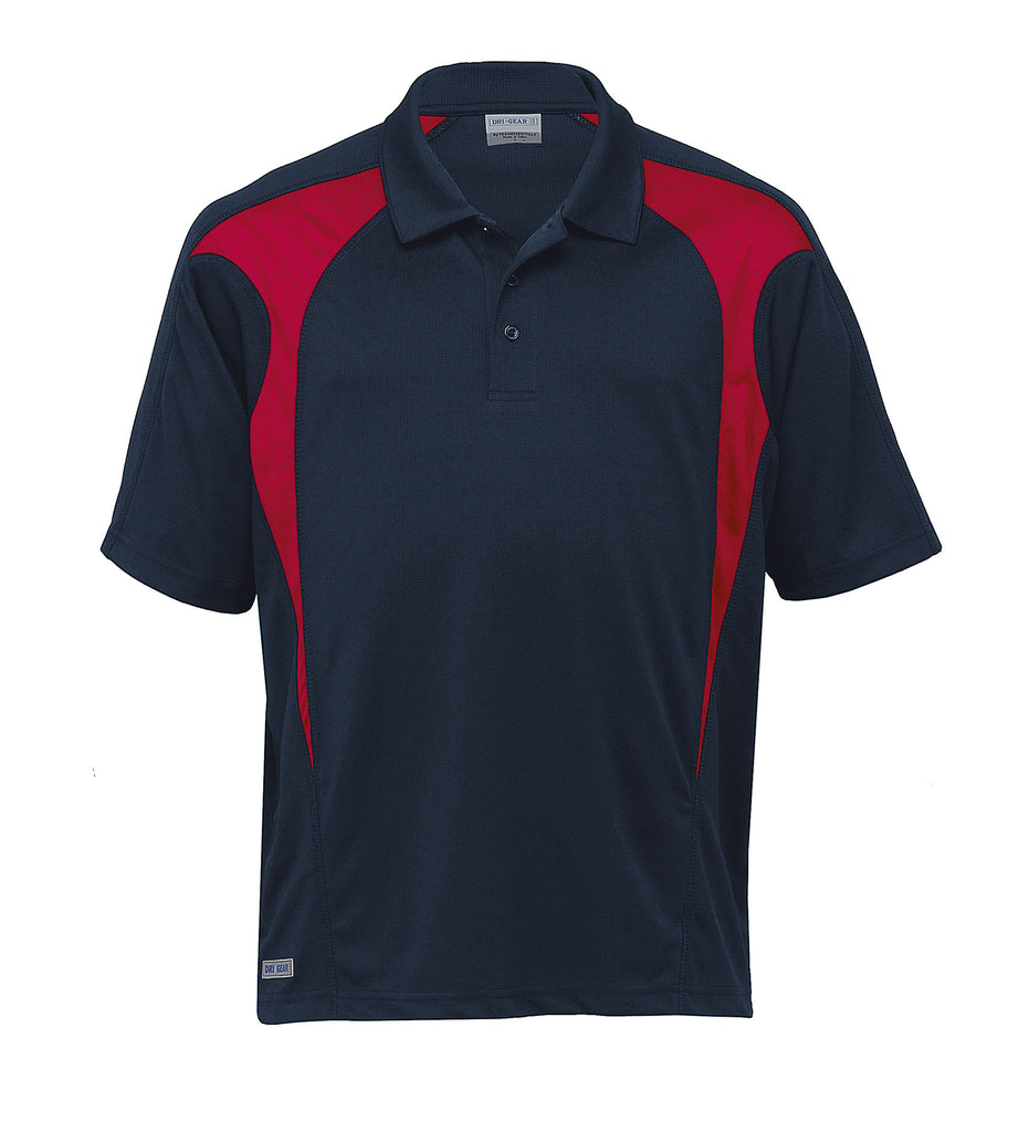 Gear For Life-Gear For Life  Dri Gear Spliced Zenith Polo (2nd 8 Colours)-Navy/Red / 2XS-Corporate Apparel Online - 4