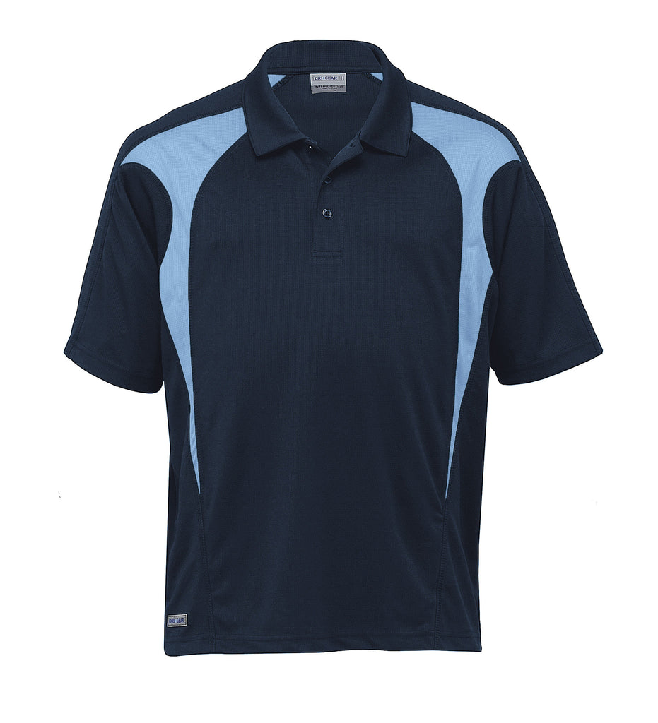 Gear For Life-Gear For Life  Dri Gear Spliced Zenith Polo (2nd 8 Colours)-Navy/Sky / 2XS-Corporate Apparel Online - 5
