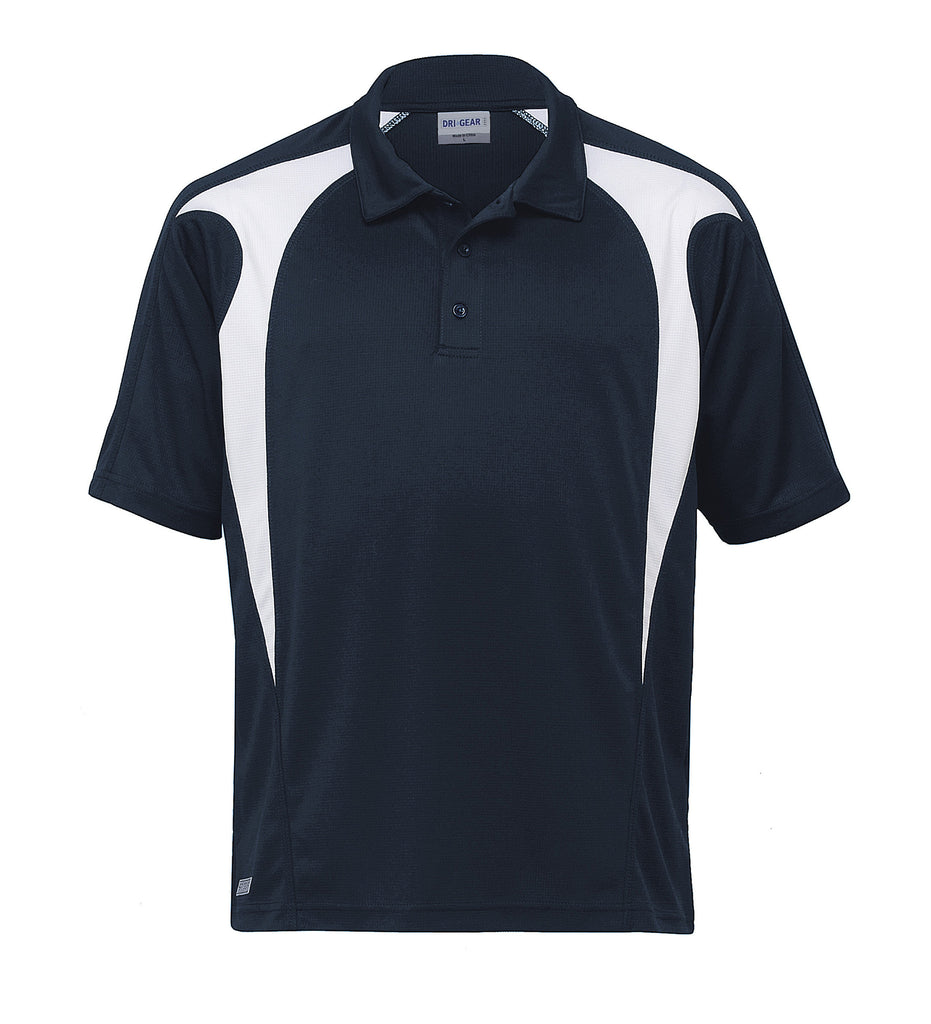 Gear For Life-Gear For Life  Dri Gear Spliced Zenith Polo (2nd 8 Colours)-Navy/White / 2XS-Corporate Apparel Online - 6