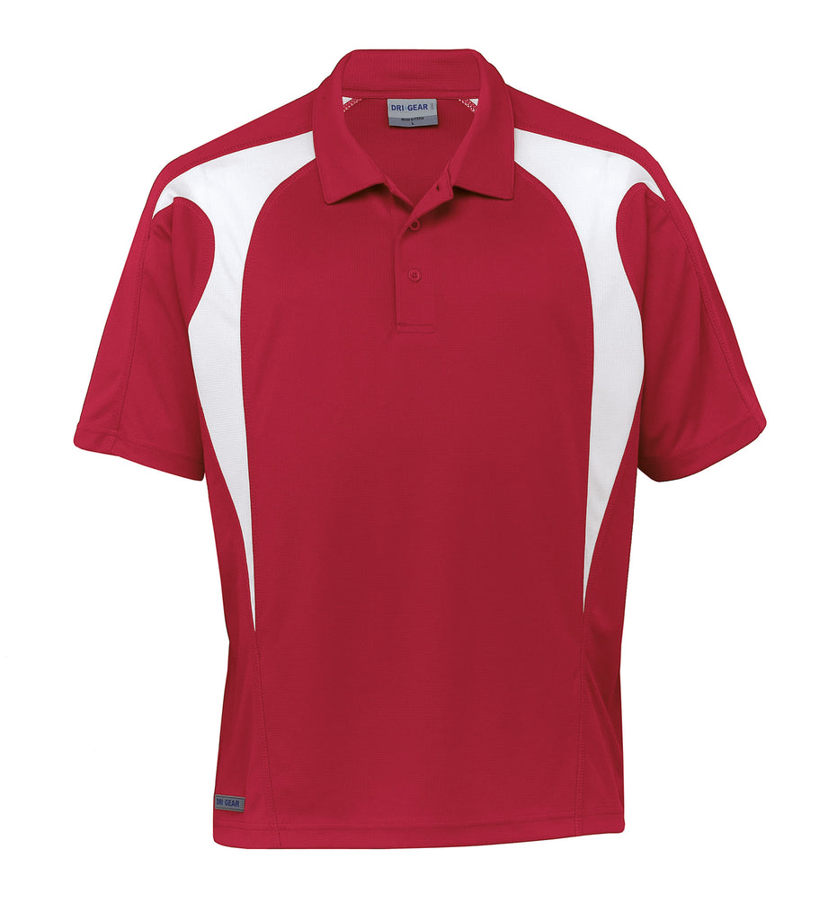 Gear For Life-Gear For Life  Dri Gear Spliced Zenith Polo (2nd 8 Colours)-Red/White / 2XS-Corporate Apparel Online - 7