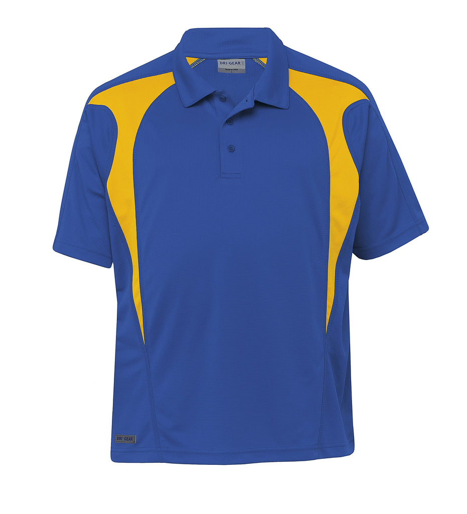 Gear For Life-Gear For Life  Dri Gear Spliced Zenith Polo (2nd 8 Colours)-Royal/Gold / 2XS-Corporate Apparel Online - 8