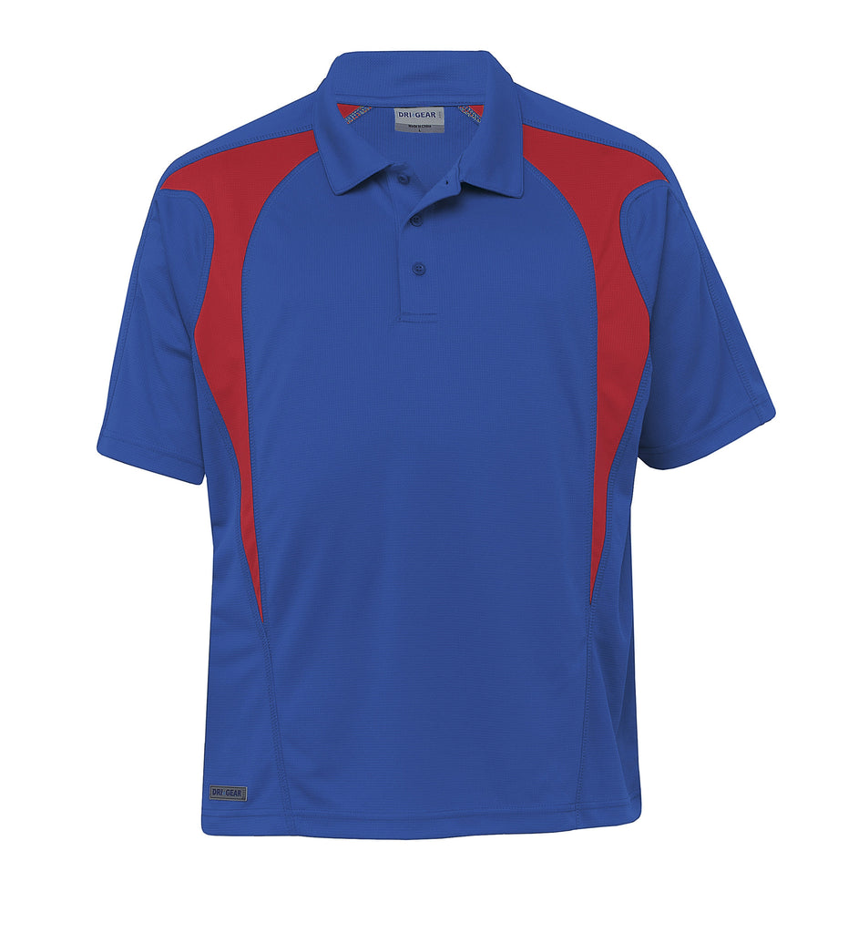 Gear For Life-Gear For Life  Dri Gear Spliced Zenith Polo (2nd 8 Colours)-Royal/Red / 2XS-Corporate Apparel Online - 3