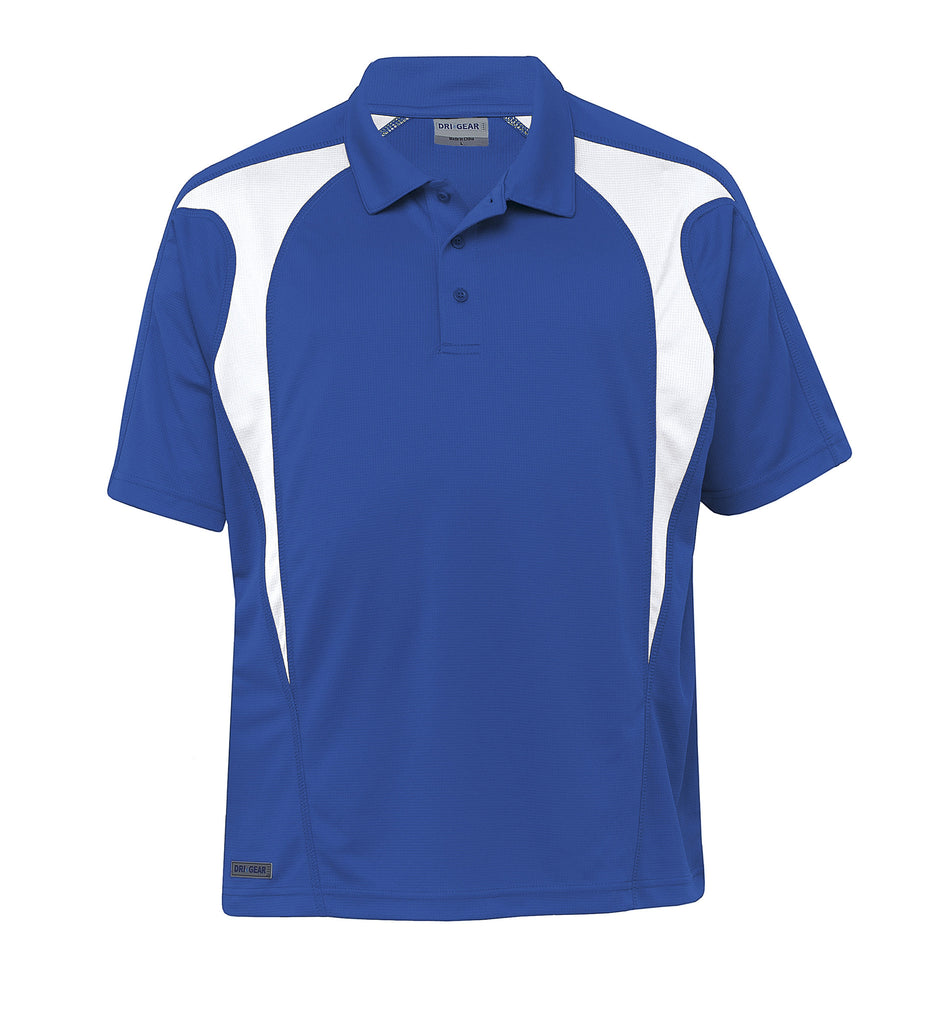 Gear For Life-Gear For Life  Dri Gear Spliced Zenith Polo (2nd 8 Colours)-Royal/White / 2XS-Corporate Apparel Online - 9