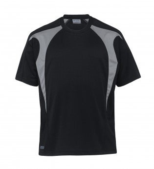 Gear For Life-f Gear For Life Unisex Dri Gear Spliced Zenith Tee-WXS / Black/Aluminium-Corporate Apparel Online - 2