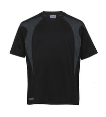 Gear For Life-Gear For Life Unisex Dri Gear Spliced Zenith Tee(1st 7 Colours)-Black/Charcoal / XXS-Corporate Apparel Online - 2