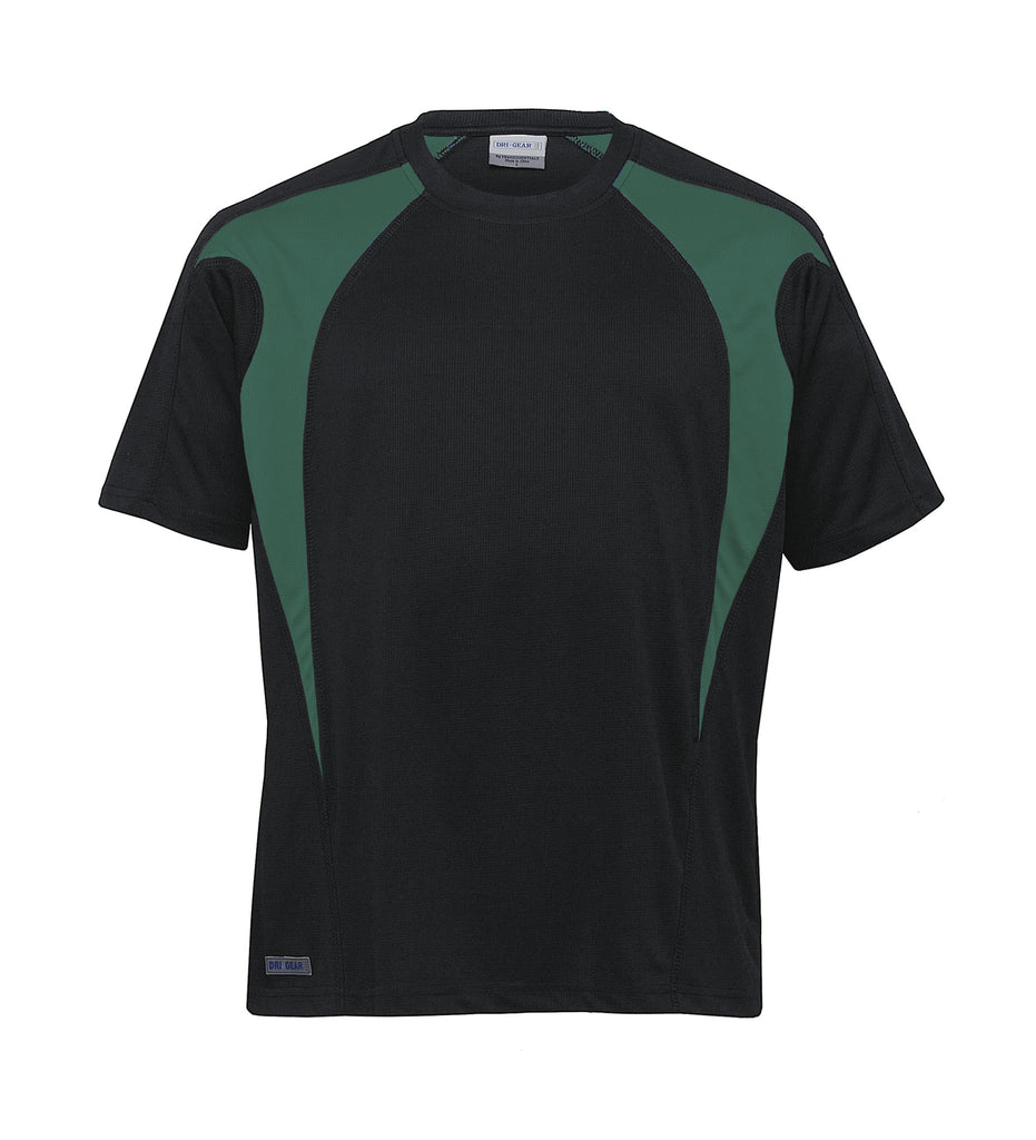 Gear For Life-Gear For Life Unisex Dri Gear Spliced Zenith Tee(1st 7 Colours)-Black/Green / XXS-Corporate Apparel Online - 4
