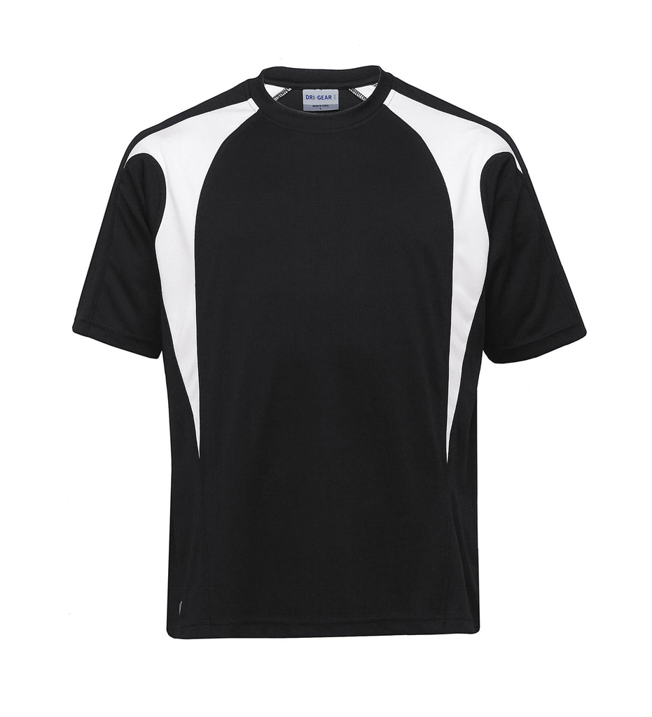 Gear For Life-Gear For Life Unisex Dri Gear Spliced Zenith Tee(1st 7 Colours)-Black/White / XXS-Corporate Apparel Online - 8