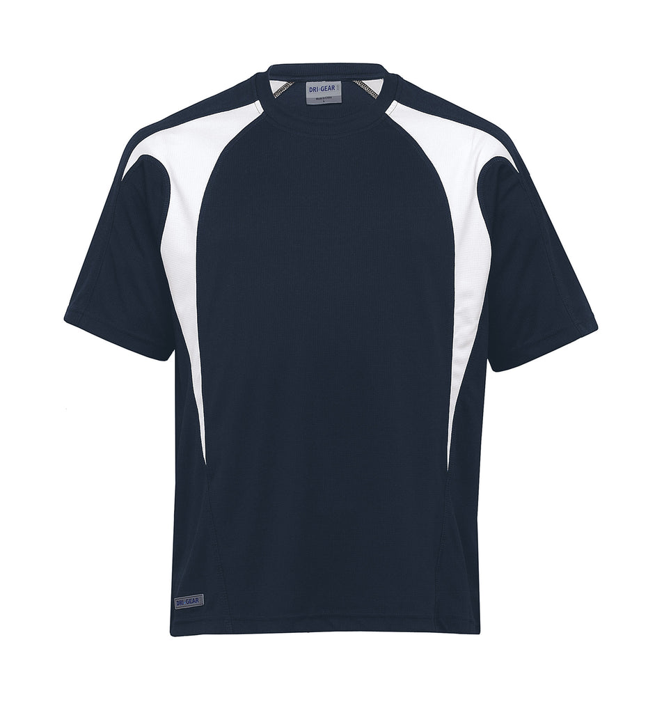 Gear For Life-Gear For Life Dri Gear Spliced Zenith Tee (2nd 8 Colours)-Navy/White / XXS-Corporate Apparel Online - 3