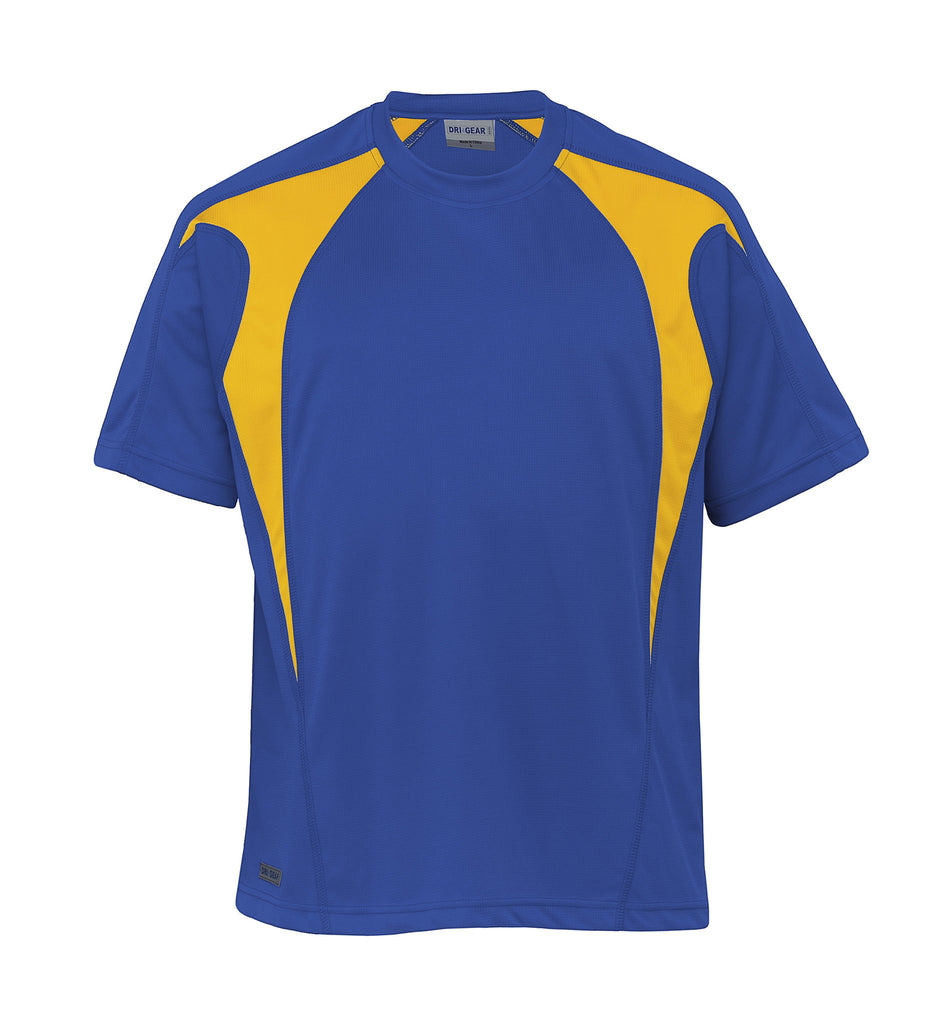 Gear For Life-Gear For Life Dri Gear Spliced Zenith Tee (2nd 8 Colours)-Royal/Gold / XXS-Corporate Apparel Online - 6