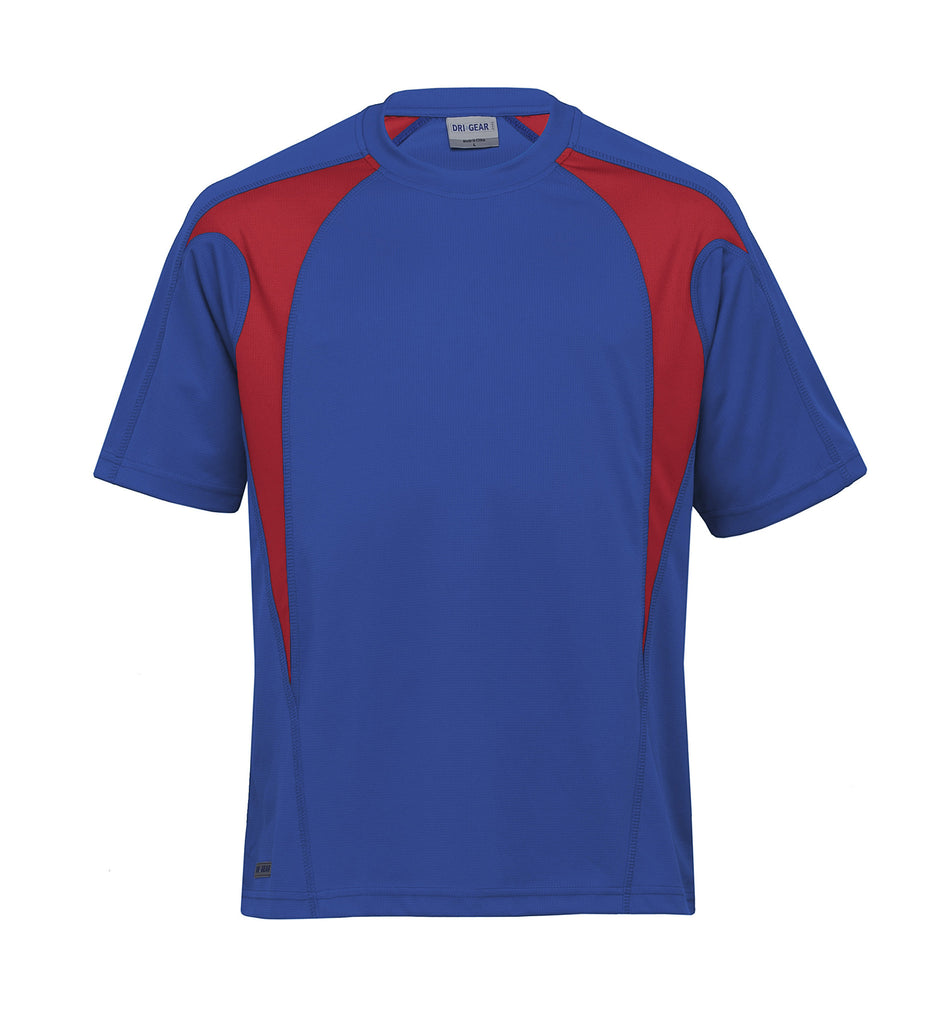 Gear For Life-Gear For Life Dri Gear Spliced Zenith Tee (2nd 8 Colours)-Royal/Red / XXS-Corporate Apparel Online - 5
