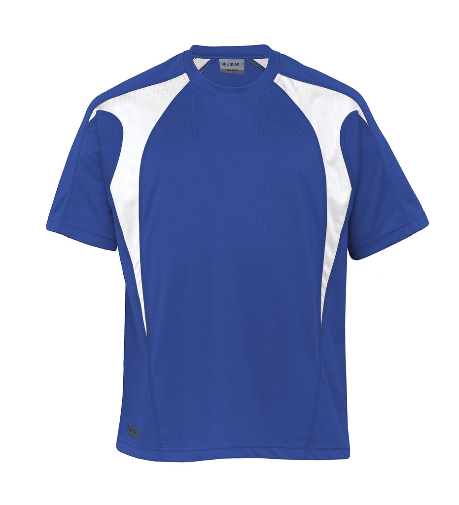 Gear For Life-Gear For Life Dri Gear Spliced Zenith Tee (2nd 8 Colours)-Royal/White / XXS-Corporate Apparel Online - 7
