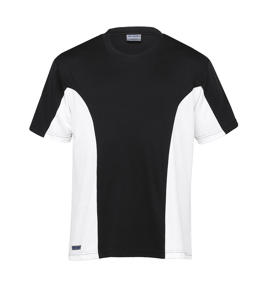 Gear For Life-Gear For Life Dri Gear Mens Active Viper Tee-Black/White / XS-Corporate Apparel Online - 2