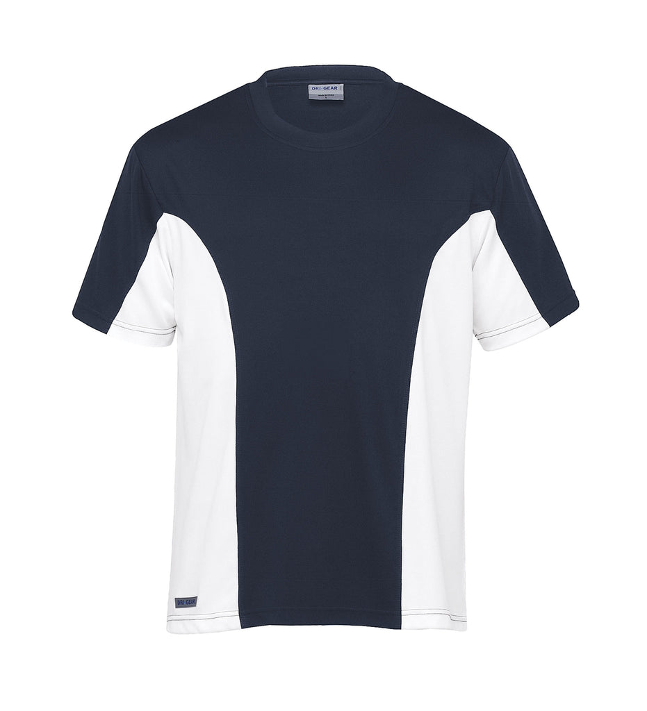 Gear For Life-Gear For Life Dri Gear Mens Active Viper Tee-Navy/White / XS-Corporate Apparel Online - 4