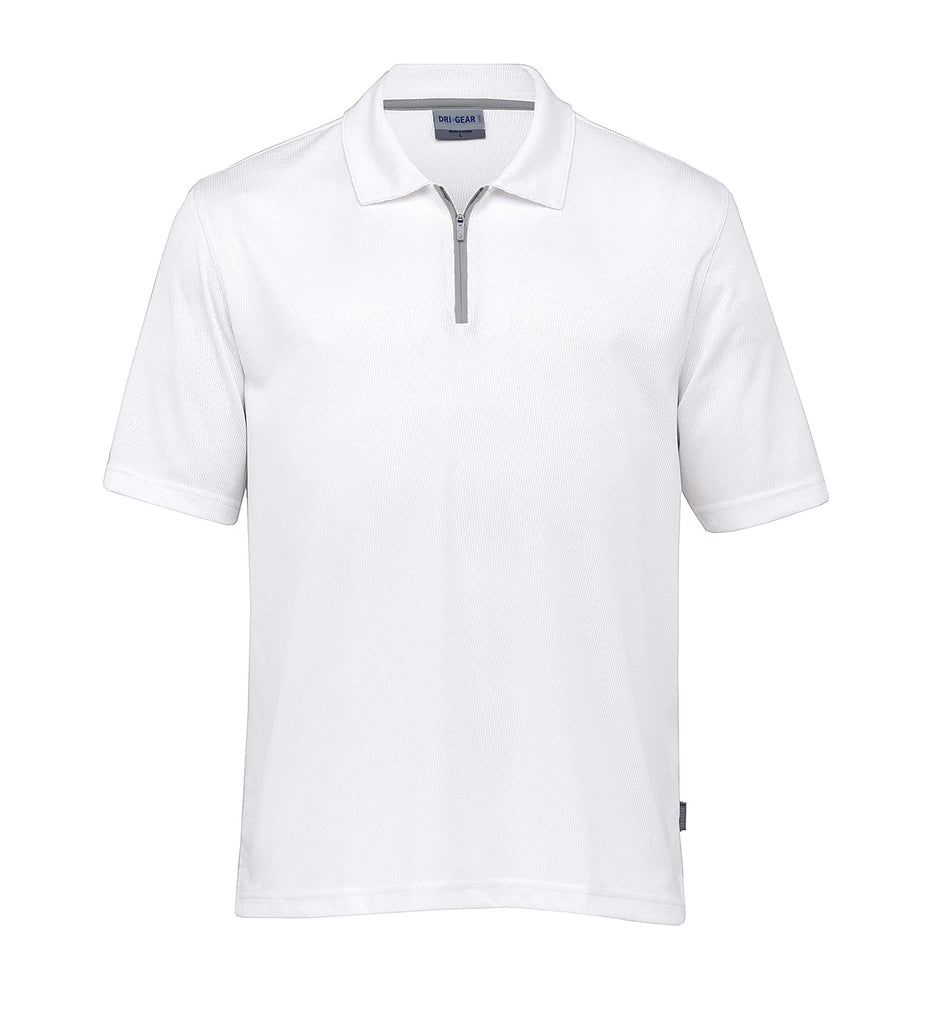 Gear For Life-Gear For Life Gents Dri Gear Trimmed Polo-White/Aluminium / S-Corporate Apparel Online - 3