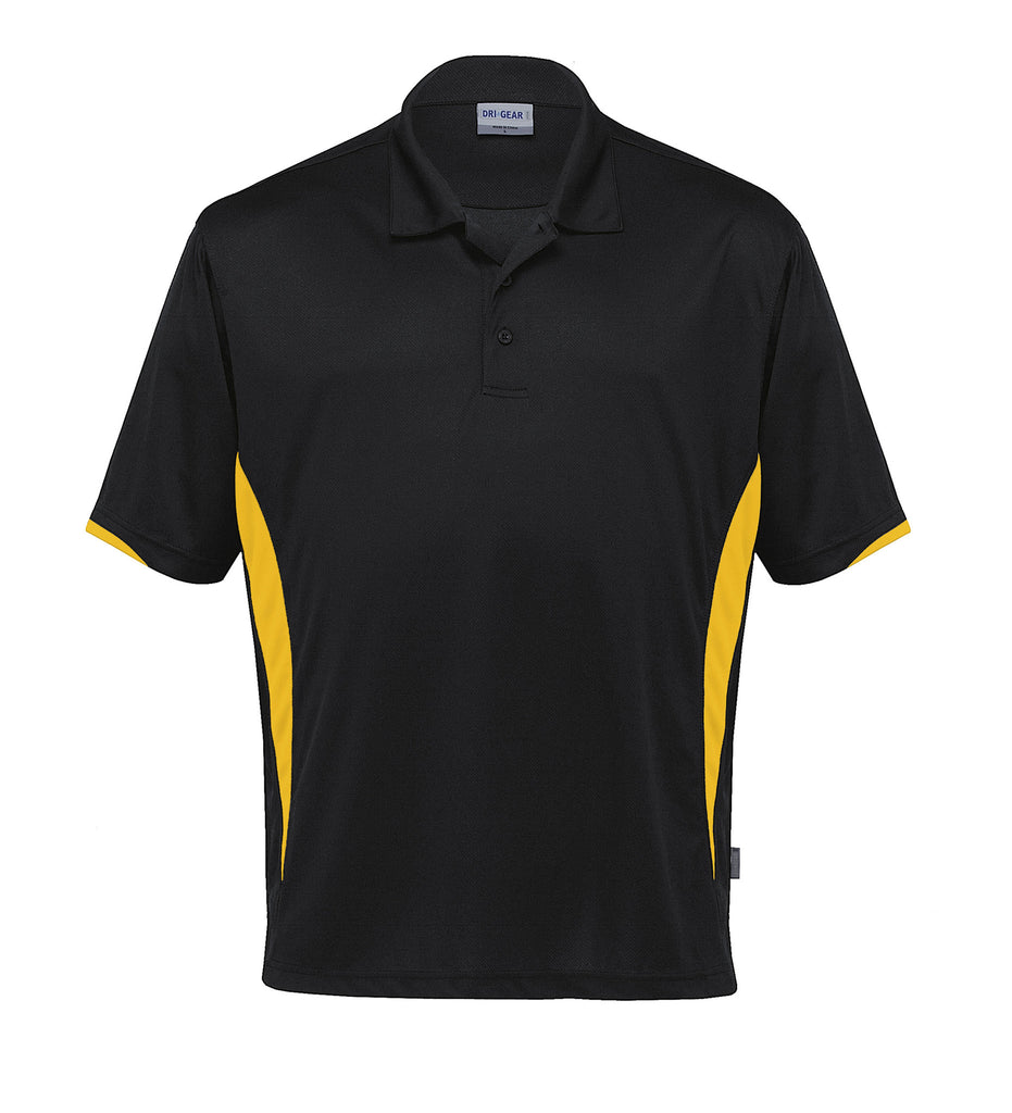 Gear For Life-Gear For Life Dri Gear Zone Polo (1st 8 Colours)-Black/Gold / 2XS-Corporate Apparel Online - 2