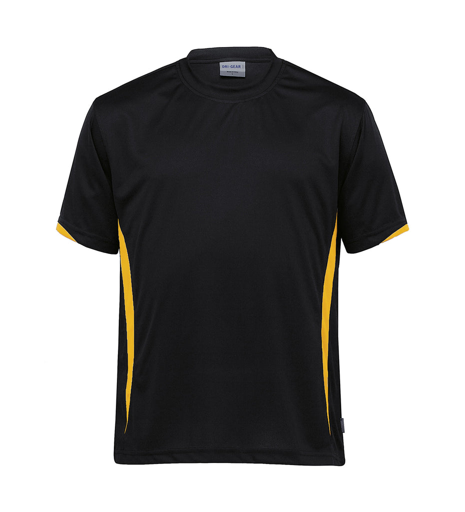 Gear For Life-Gear For Life Unisex Dri Gear Zone Tee(1st 8 Colours)-Black/Gold / 2XS-Corporate Apparel Online - 2