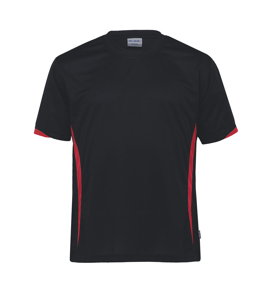Gear For Life-Gear For Life Unisex Dri Gear Zone Tee(1st 8 Colours)-Black/Red / 2XS-Corporate Apparel Online - 3