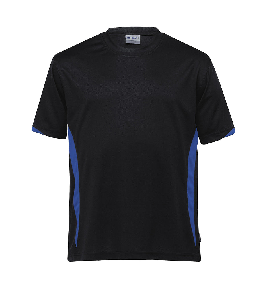 Gear For Life-Gear For Life Unisex Dri Gear Zone Tee(1st 8 Colours)-Black/Royal / 2XS-Corporate Apparel Online - 4