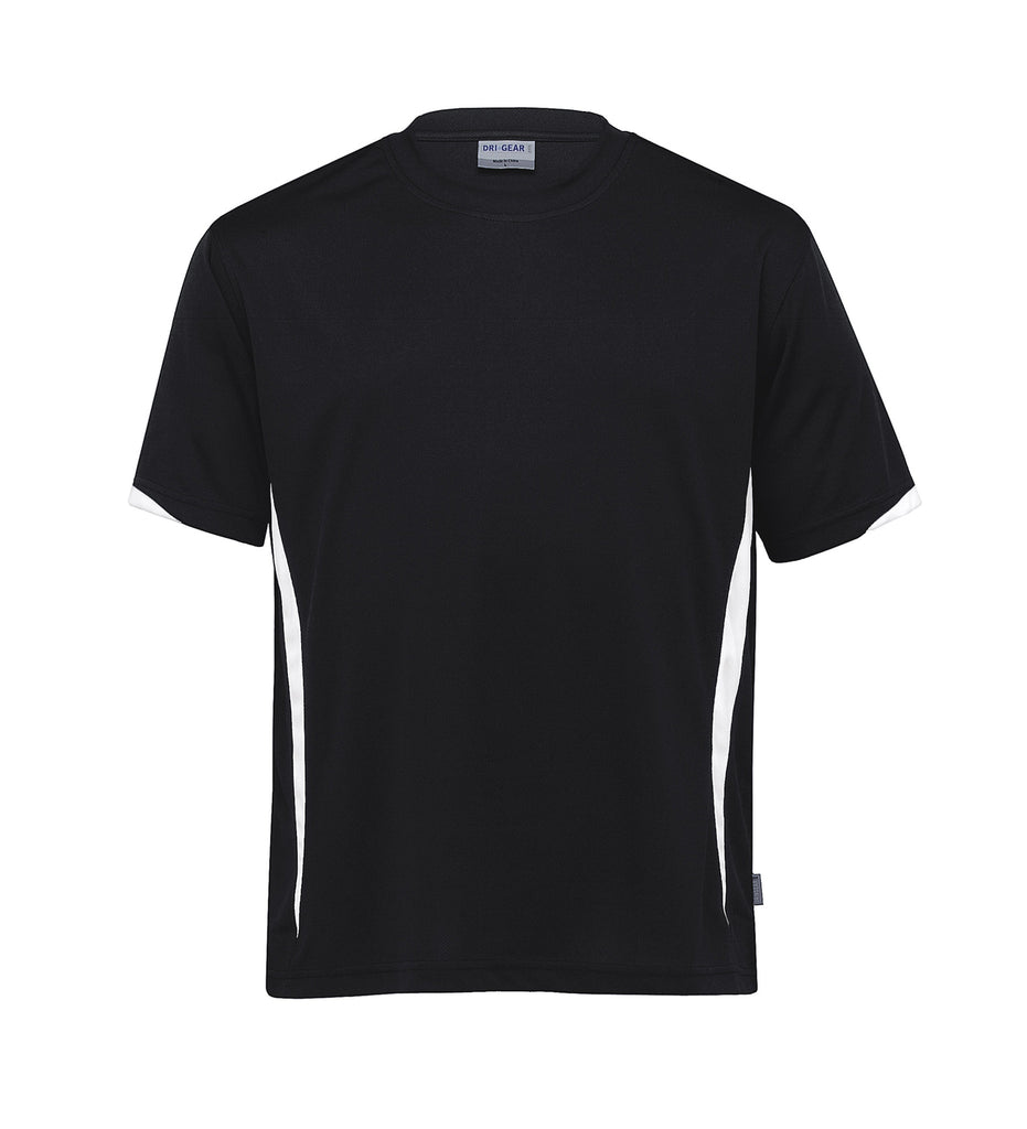 Gear For Life-Gear For Life Unisex Dri Gear Zone Tee(1st 8 Colours)-Black/White / 2XS-Corporate Apparel Online - 5