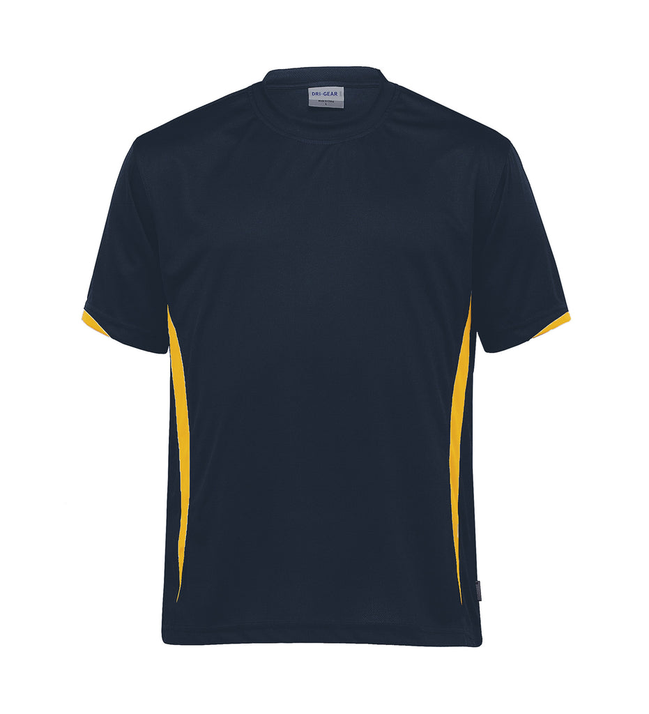 Gear For Life-Gear For Life Unisex Dri Gear Zone Tee(1st 8 Colours)-Navy/Gold / 2XS-Corporate Apparel Online - 6