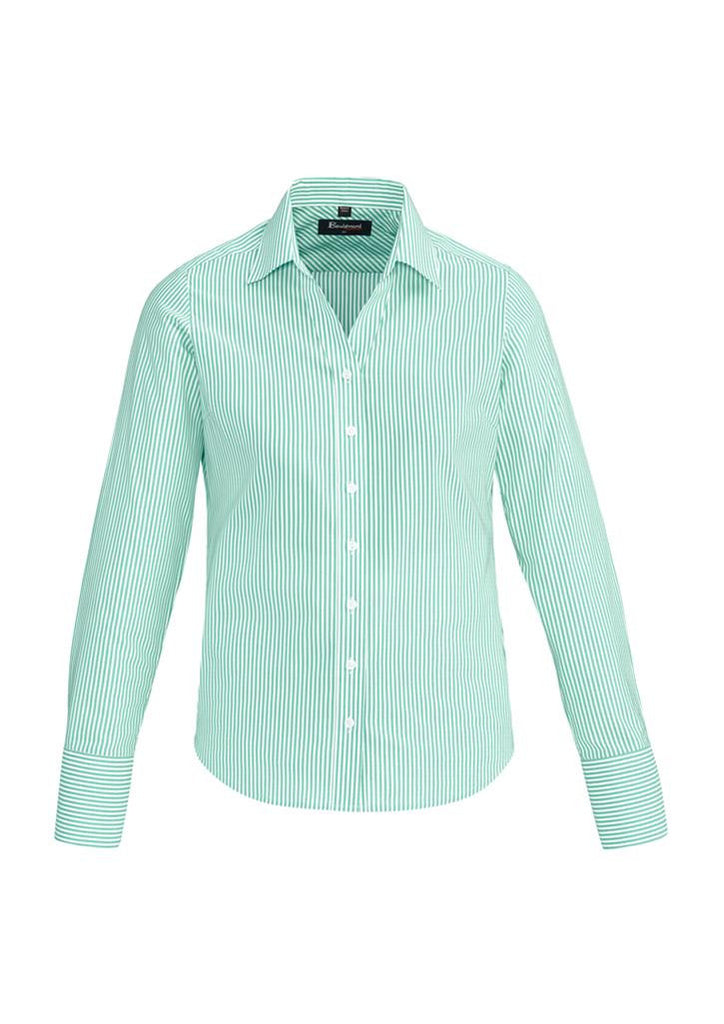 Biz Corporates-Biz Corporates Vermont Ladies Long Sleeve Shirt-Dynasty Green / 4-Corporate Apparel Online - 7