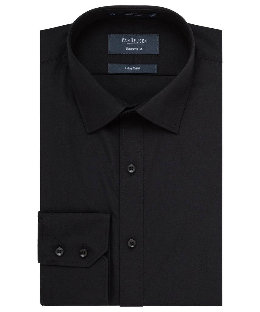Van Heusen-Van Heusen Cotton Polyester Poplin European Fit Shirt--Corporate Apparel Online - 2