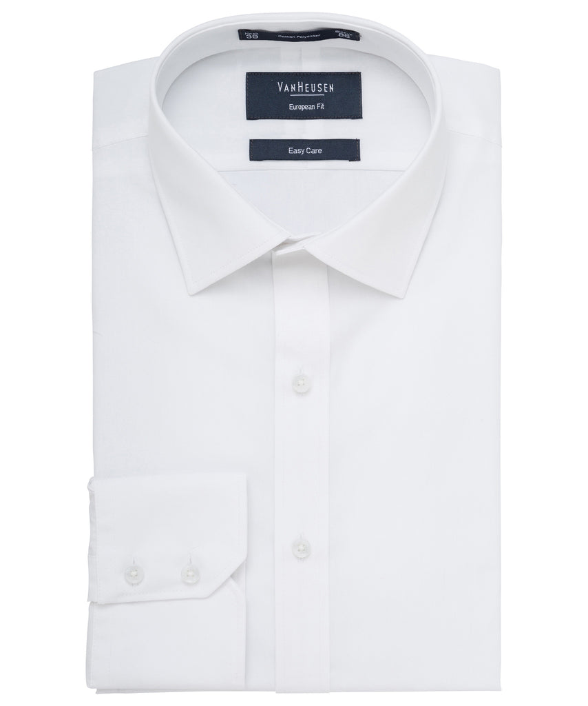 Van Heusen-Van Heusen Cotton Polyester Poplin European Fit Shirt--Corporate Apparel Online - 4