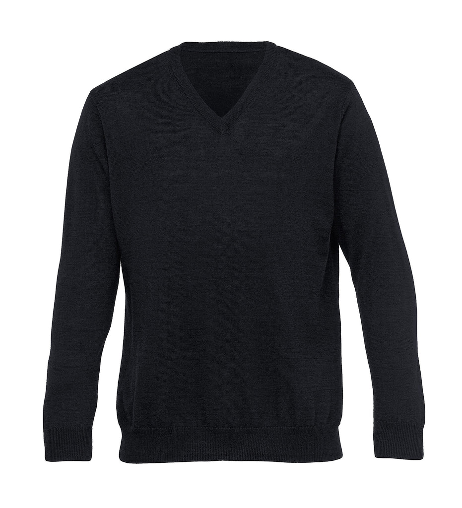 Gear For Life-Gear For Life Merino Detailed Vee Pullover – Mens-Black / S-Corporate Apparel Online - 2