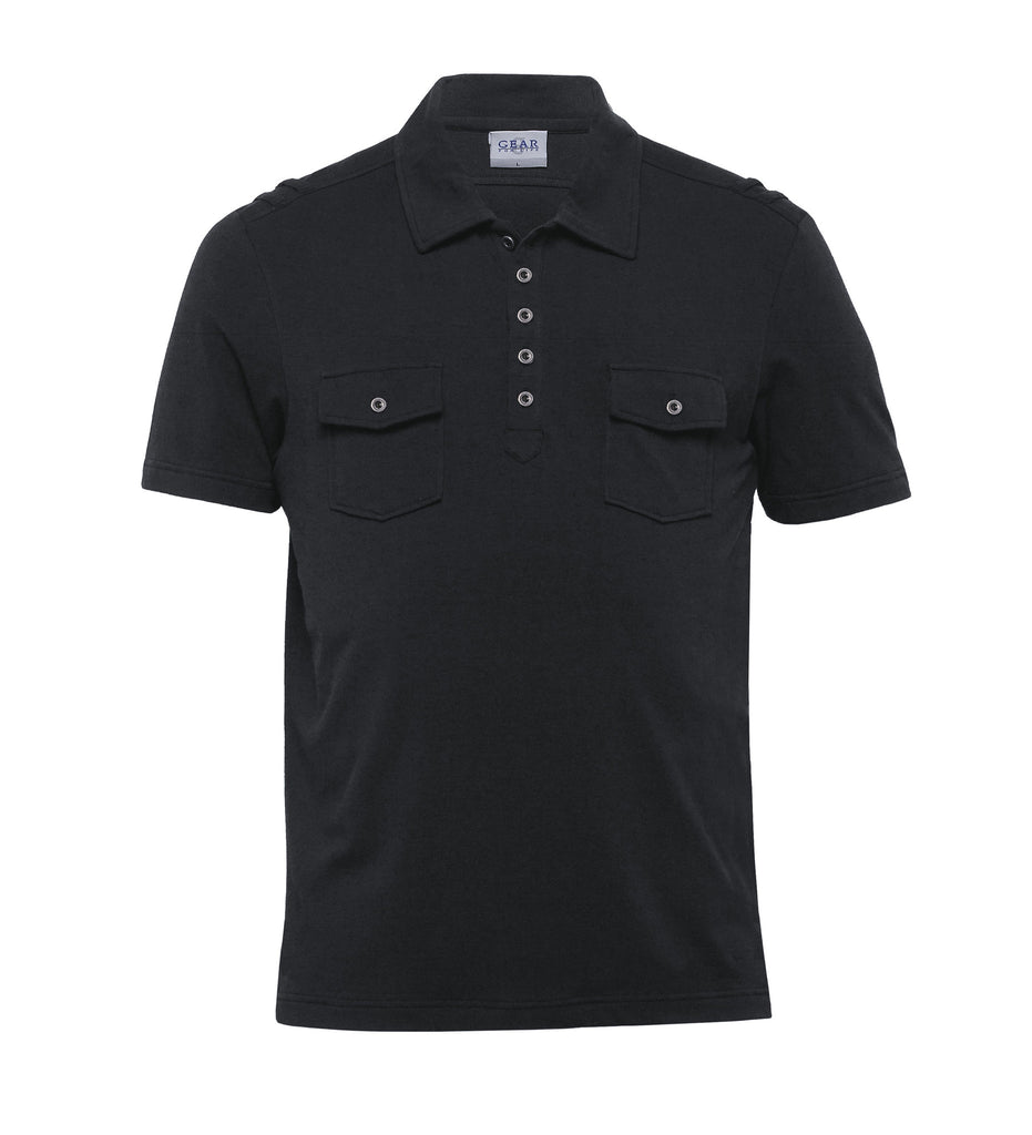 Gear For Life-Gear For Life Mens Fusion Polo-Black / S-Corporate Apparel Online - 2
