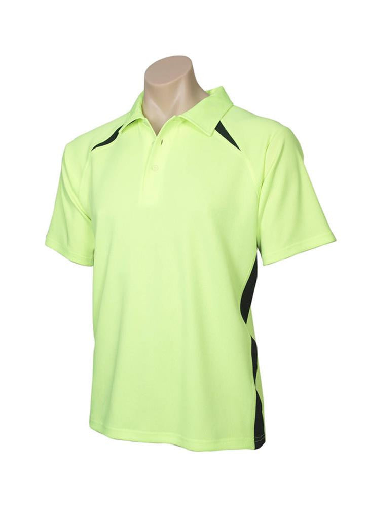 Biz Collection-Biz Collection Kids Bizcool Splice Polo-Fluoro Yellow-Lime/Black / 10-Corporate Apparel Online - 6