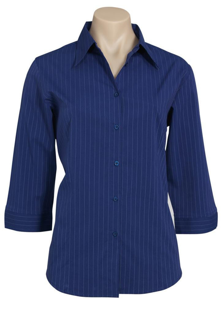 Biz Collection-Biz Collection Ladies Manhattan 3/4 Sleeve Shirt-French Blue / White / 6-Corporate Apparel Online - 5