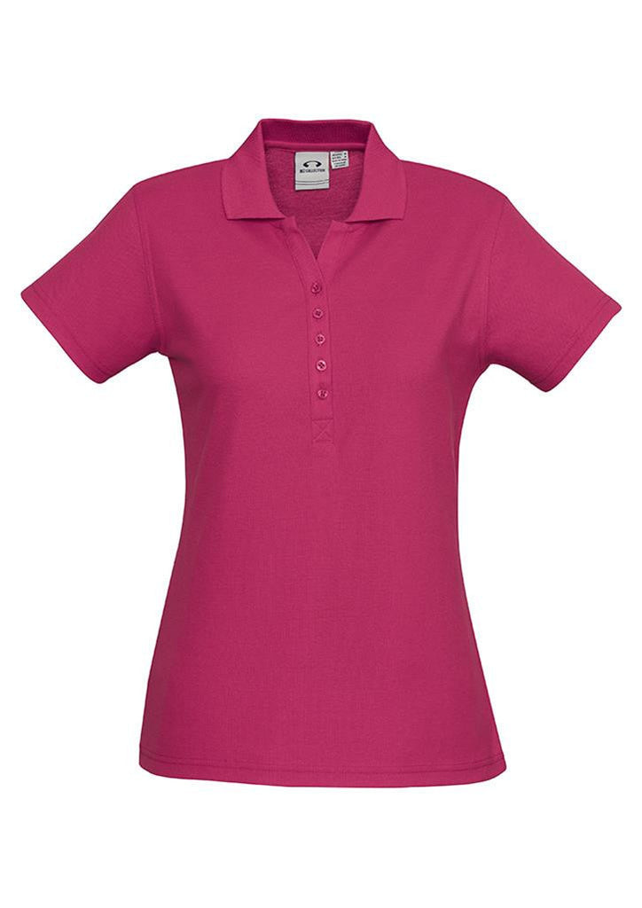 Biz Collection-Biz Collection Ladies Crew Polo(1st 10 Colours)-Fuchsia / 8-Corporate Apparel Online - 8
