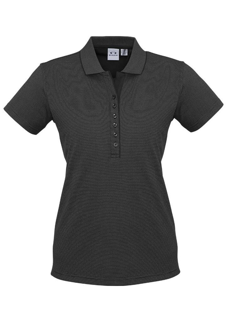 Biz Collection-Biz Collection Ladies Shadow Polo-Graphite Black / 8-Corporate Apparel Online - 1