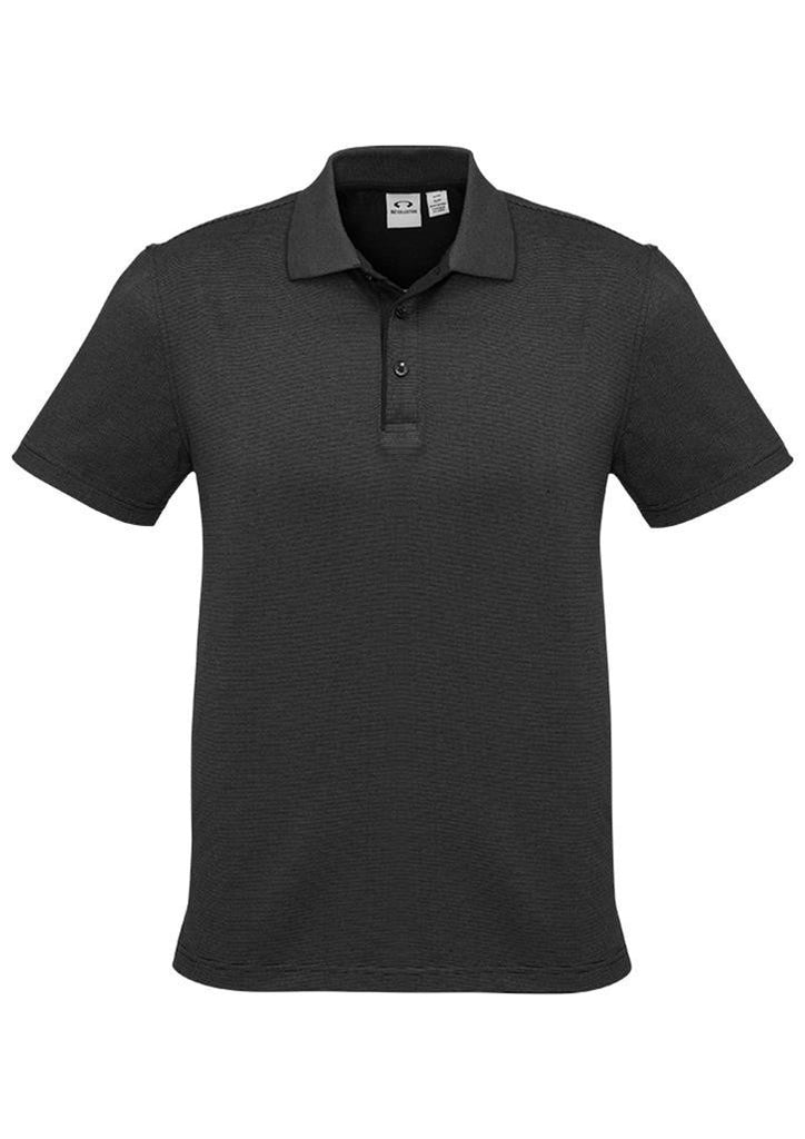 Biz Collection-Biz Collection Mens Shadow Polo-Graphite Black / S-Corporate Apparel Online - 3