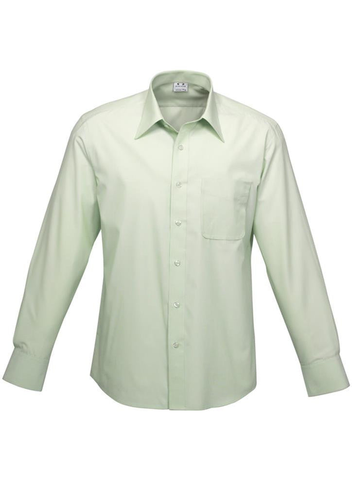 Biz Collection-Biz Collection Mens Ambassador Long Sleeve Shirt-Green / S-Corporate Apparel Online - 1