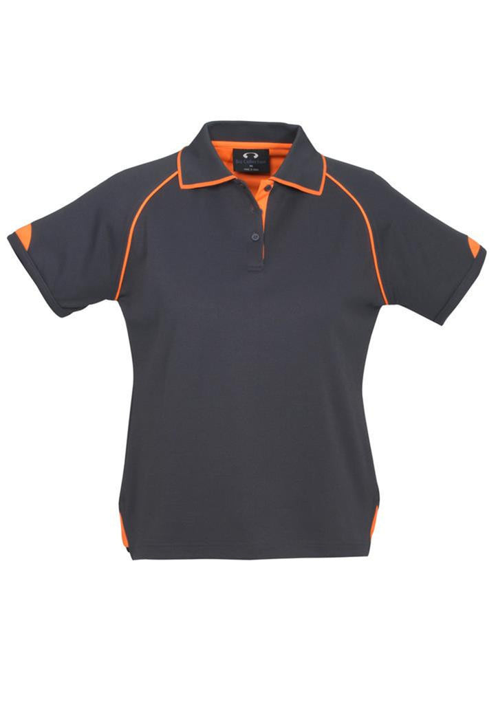Biz Collection-Biz Collection Ladies Fusion Polo-Grey / Fluro Orange / 8-Corporate Apparel Online - 3