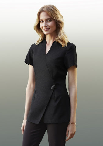 Biz Collection-Biz Collection Spa Mock Wrap Tunic--Corporate Apparel Online - 1