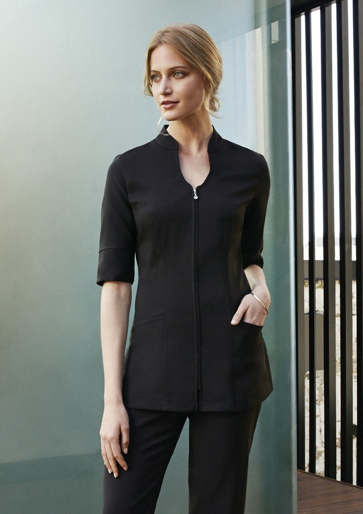 Biz Collection-Biz Collection Bliss Zip Front Tunic--Corporate Apparel Online - 1