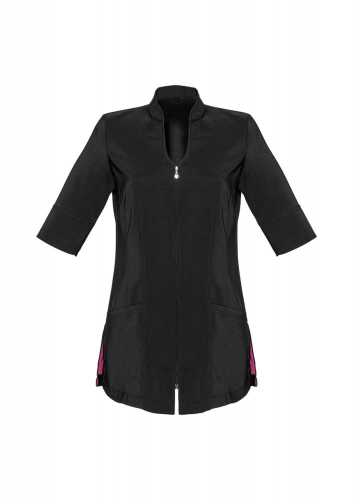 Biz Collection-Biz Collection Bliss Zip Front Tunic-6 / BLACK-Corporate Apparel Online - 2