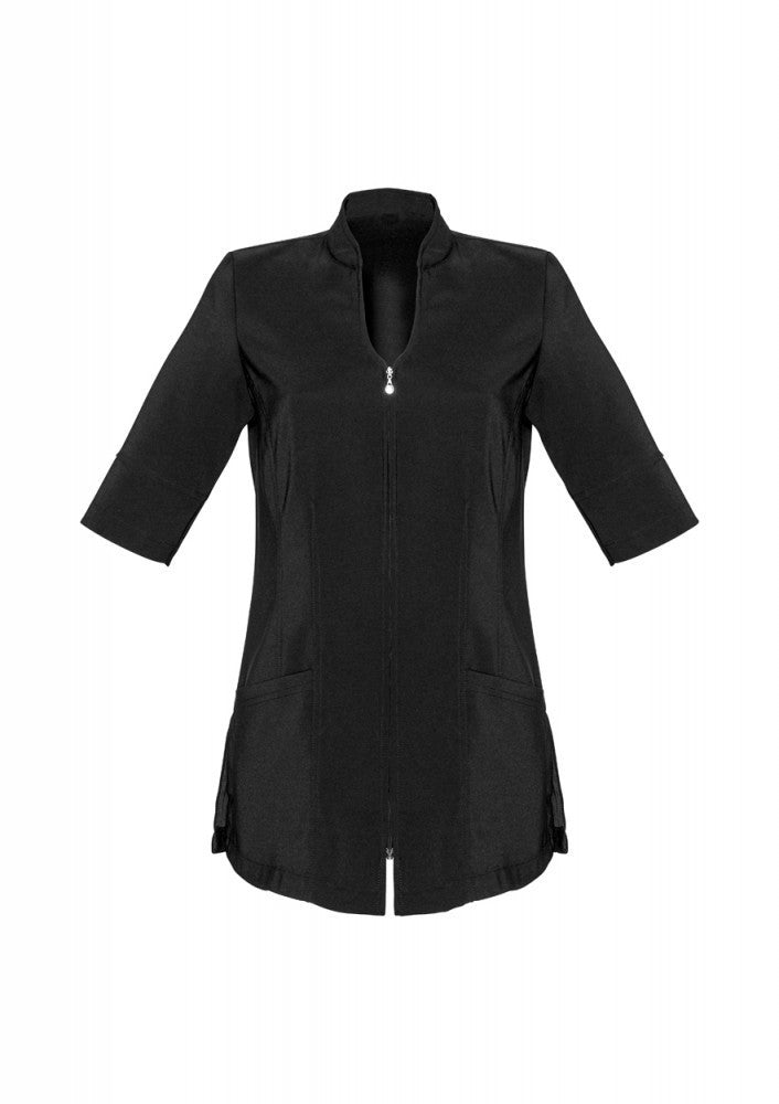 Biz Collection-Biz Collection Bliss Zip Front Tunic-6 / BLACK/MAGENTA-Corporate Apparel Online - 3